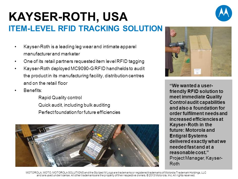 KAYSER-ROTH, USA ITEM-LEVEL RFID TRACKING SOLUTION