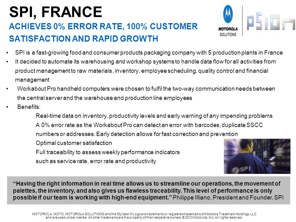 SPI, FRANCE achieves 0% error rate, 100% customer satisfaction and rapid growth