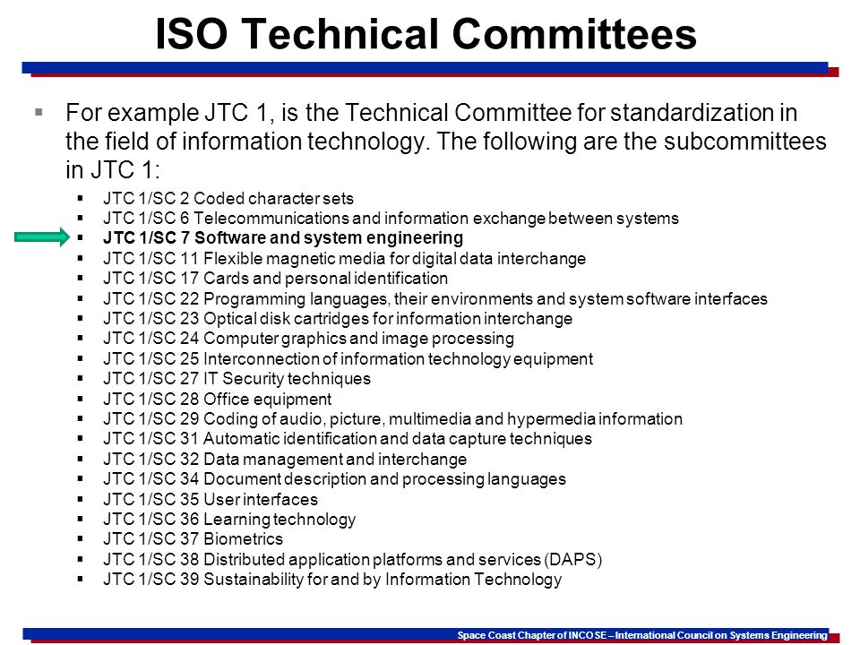 ISO Technical Committees