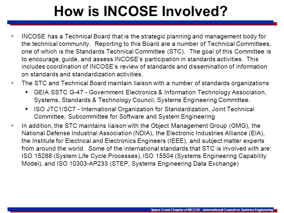 How is INCOSE Involved