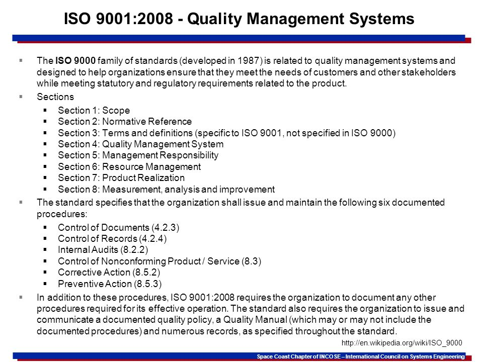 ISO 9001:2008 - Quality Management Systems