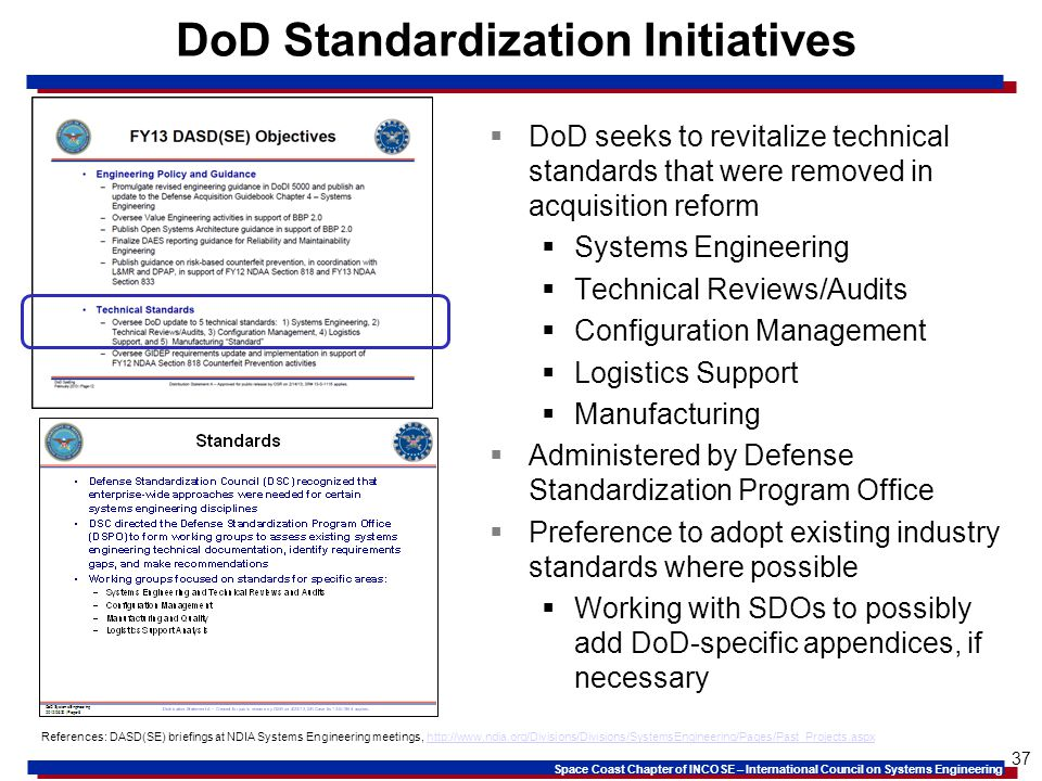 DoD Standardization Initiatives