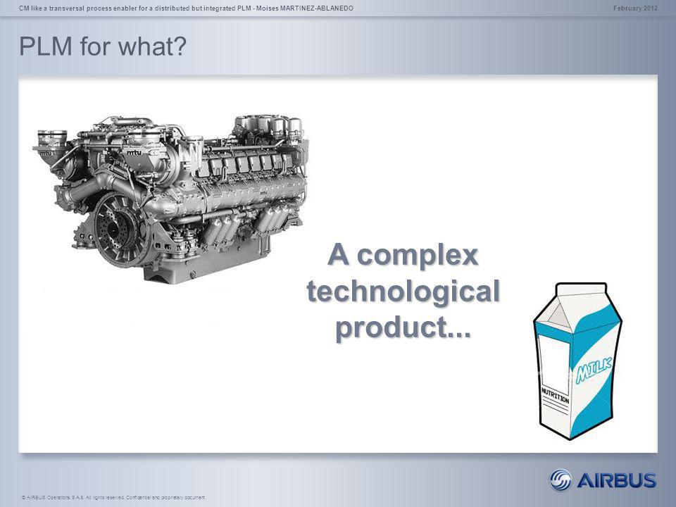A complex technological product...