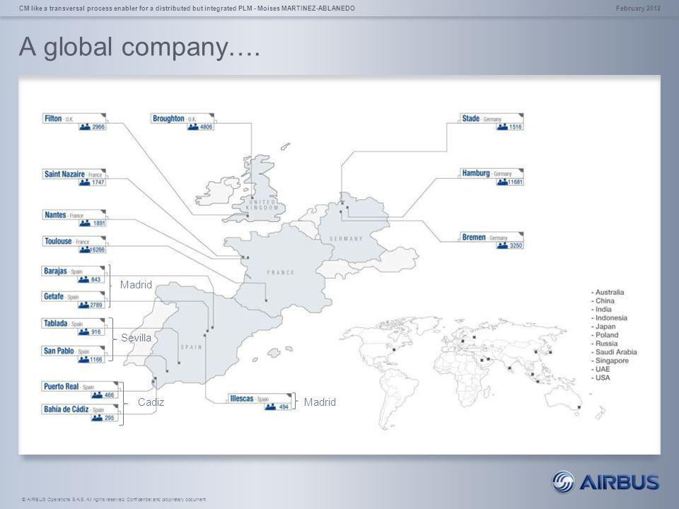 A global company…. Madrid Sevilla Cadiz