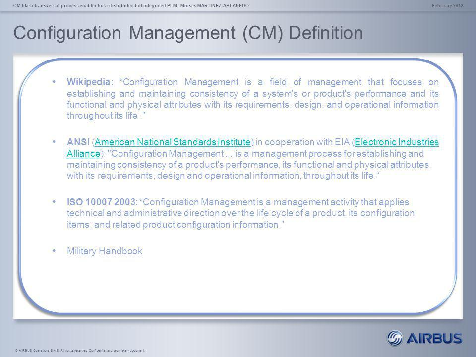 Configuration Management (CM) Definition