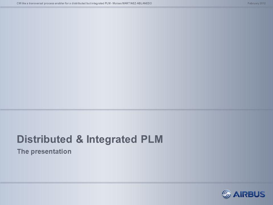 Distributed & Integrated PLM
