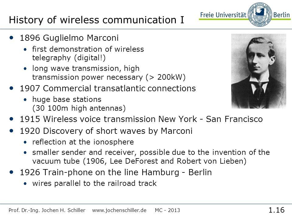 History of wireless communication I