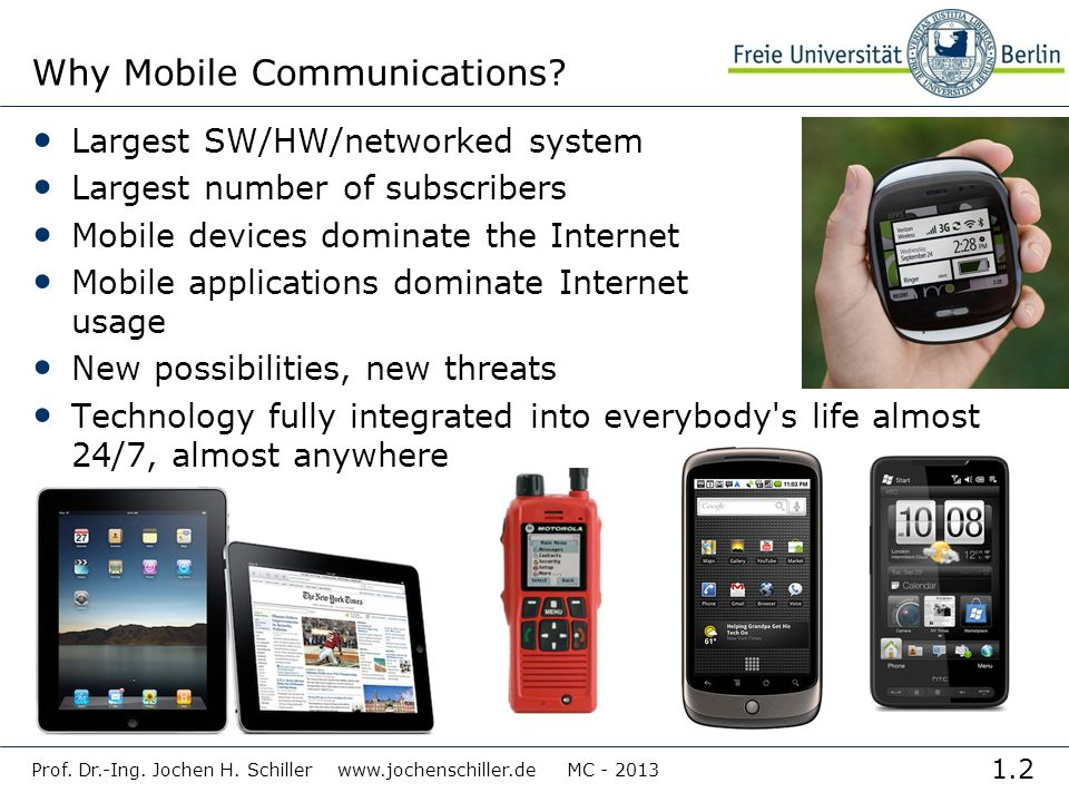 Why Mobile Communications