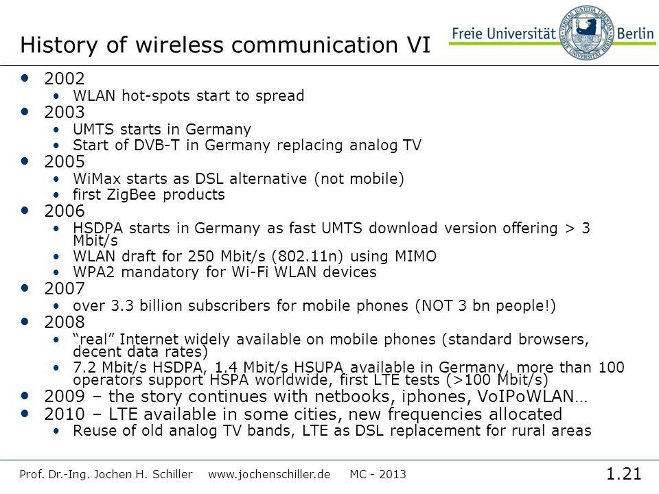 History of wireless communication VI
