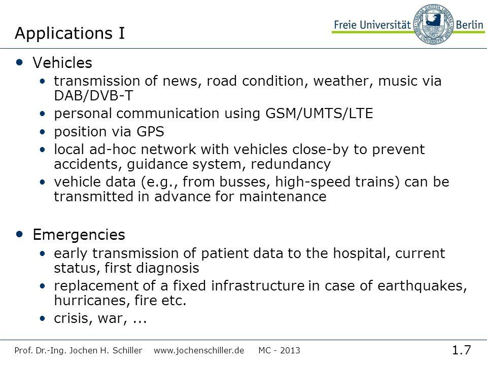 Applications I Vehicles Emergencies