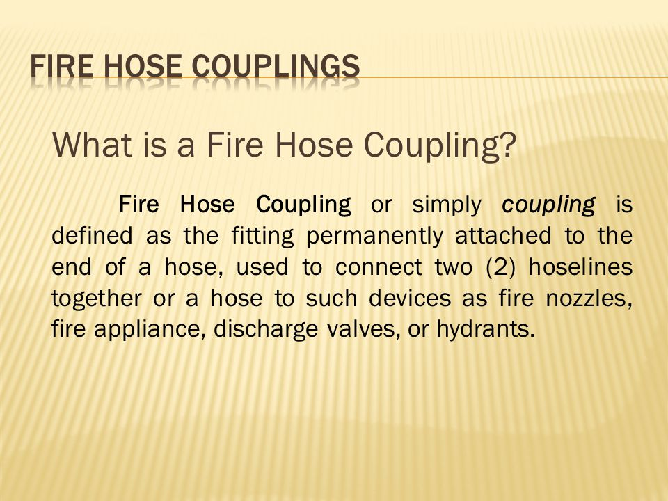 What is a Fire Hose Coupling