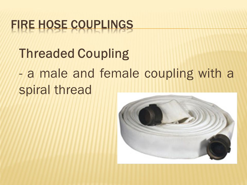 Threaded Coupling - a male and female coupling with a spiral thread