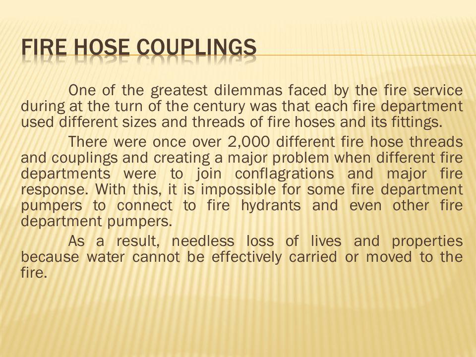 FIRE HOSE COUPLINGS