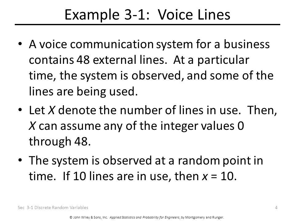 Example 3-1: Voice Lines