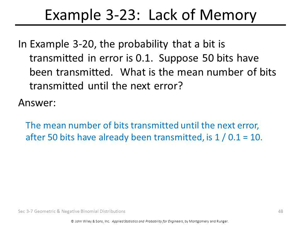Example 3-23: Lack of Memory
