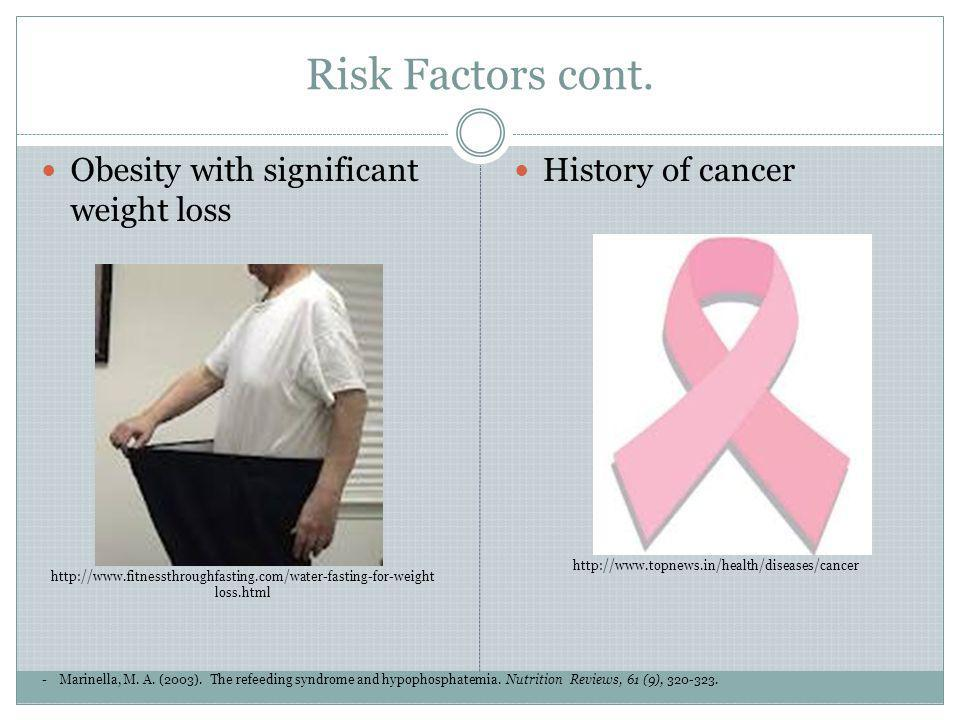 Risk Factors cont. Obesity with significant weight loss
