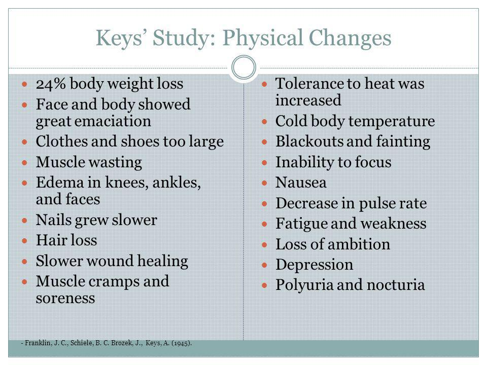 Keys' Study: Physical Changes
