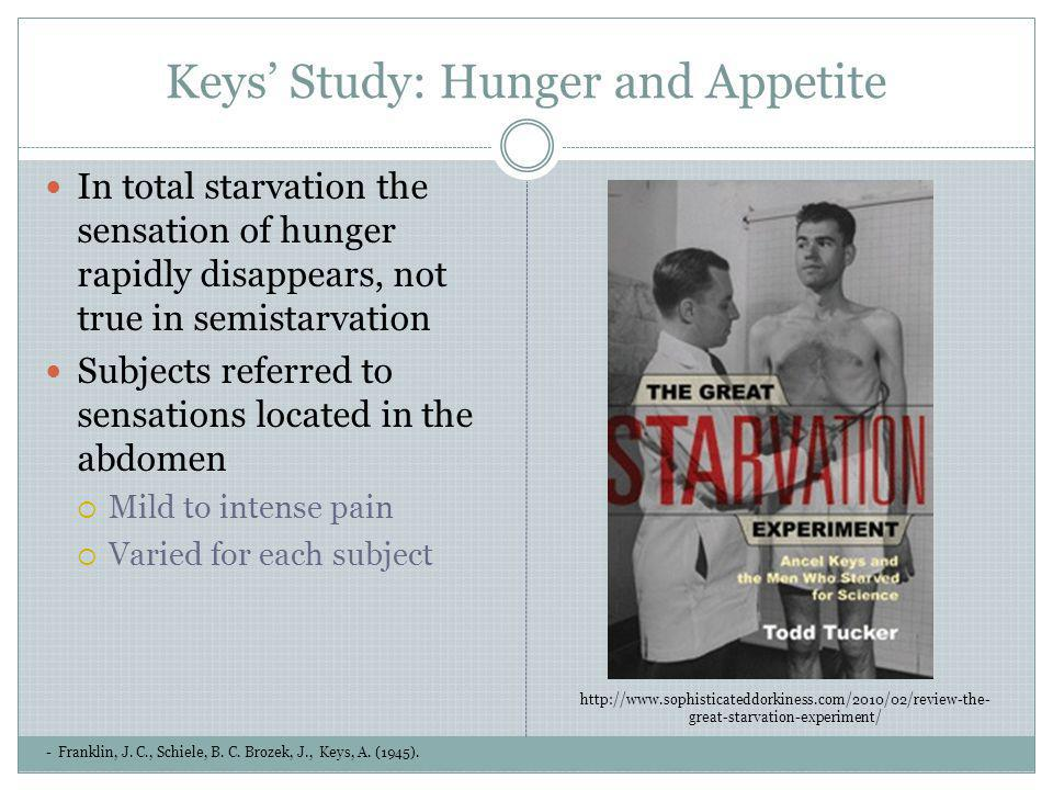 Keys' Study: Hunger and Appetite