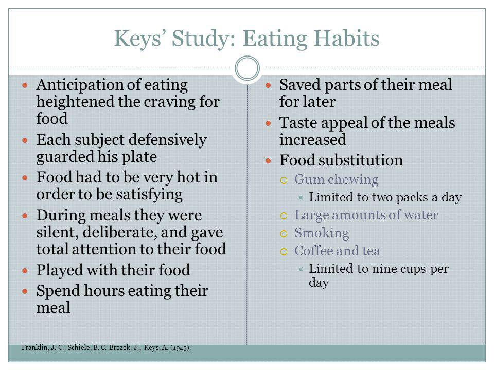 Keys' Study: Eating Habits