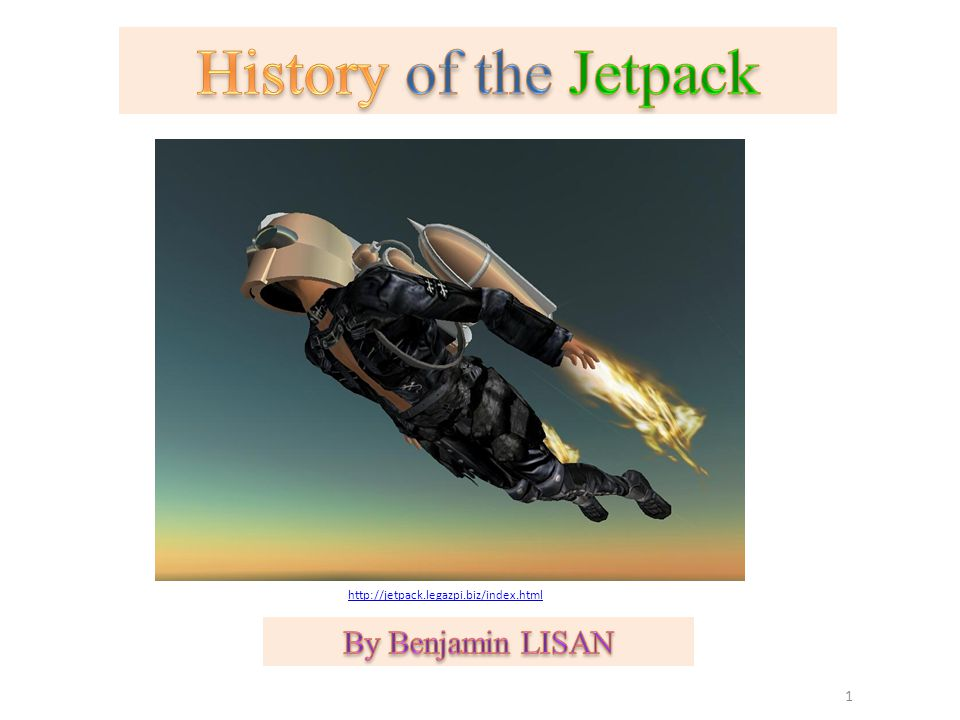 History of the Jetpack By Benjamin LISAN