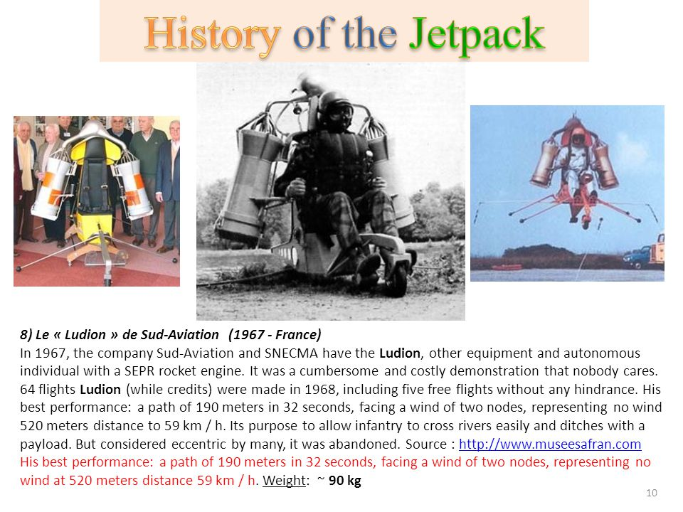History of the Jetpack 8) Le « Ludion » de Sud-Aviation (1967 - France)