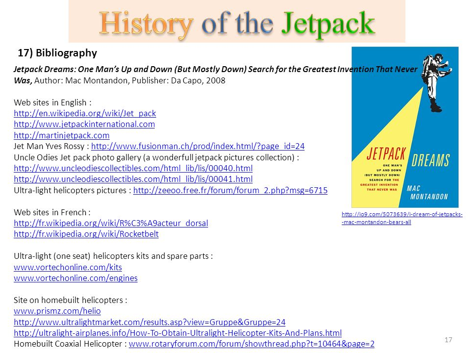 History of the Jetpack 17) Bibliography