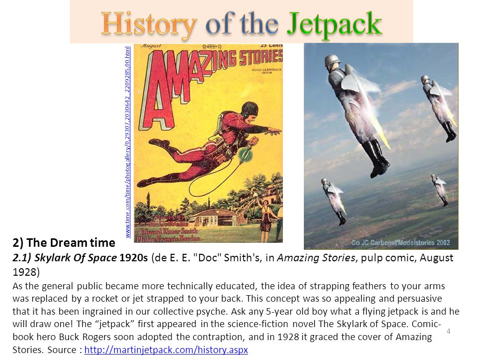 History of the Jetpack 2) The Dream time