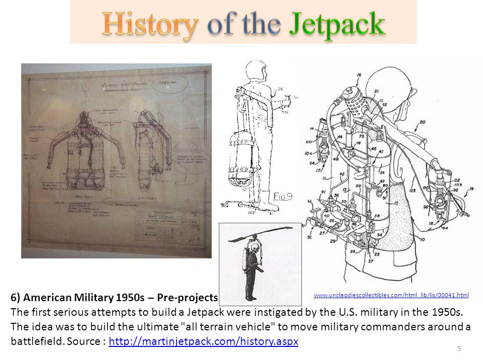 History of the Jetpack 6) American Military 1950s – Pre-projects