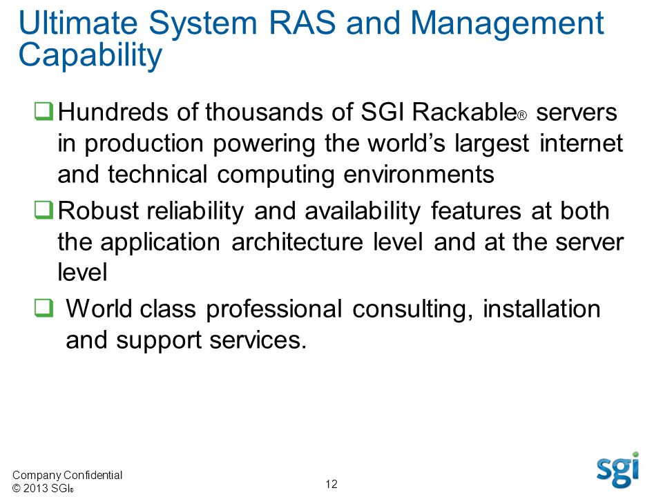 Ultimate System RAS and Management Capability