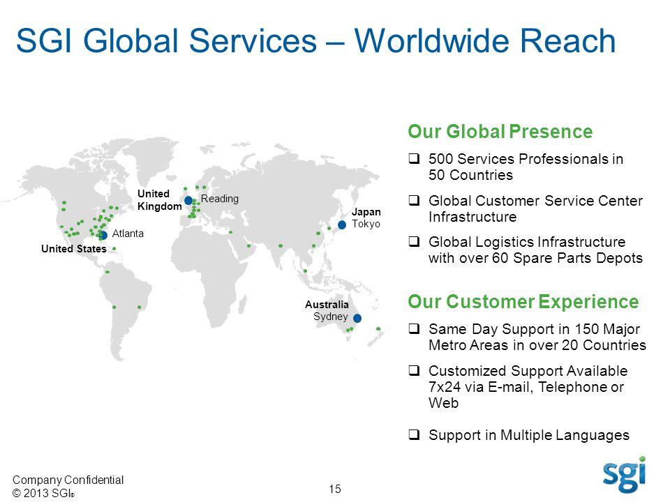 SGI Global Services – Worldwide Reach