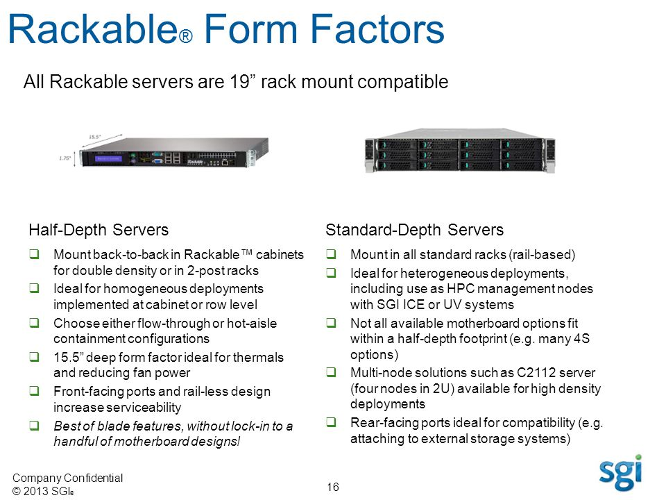 Rackable® Form Factors