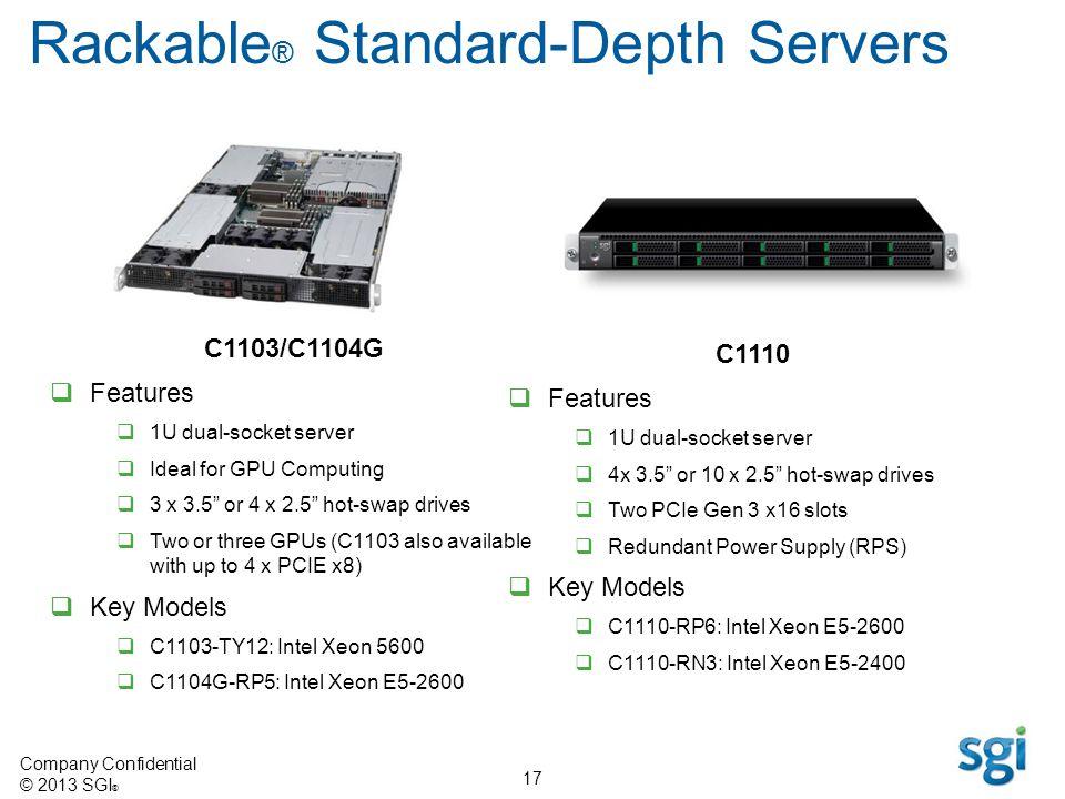 Rackable® Standard-Depth Servers