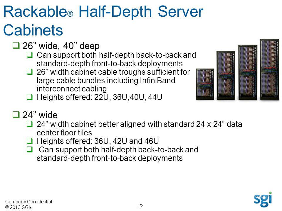 Rackable® Half-Depth Server Cabinets