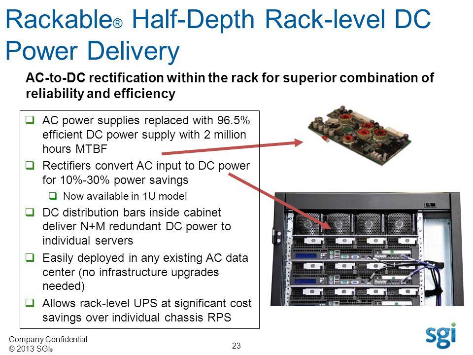 Rackable® Half-Depth Rack-level DC Power Delivery