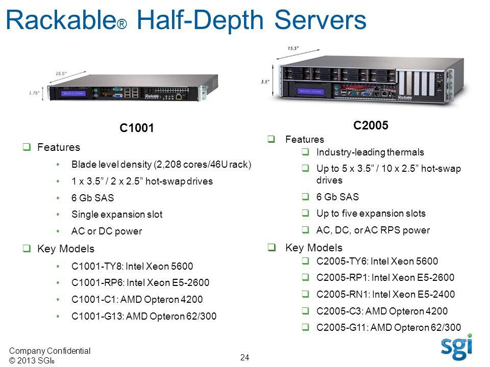 Rackable® Half-Depth Servers