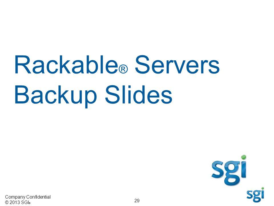 Rackable® Servers Backup Slides