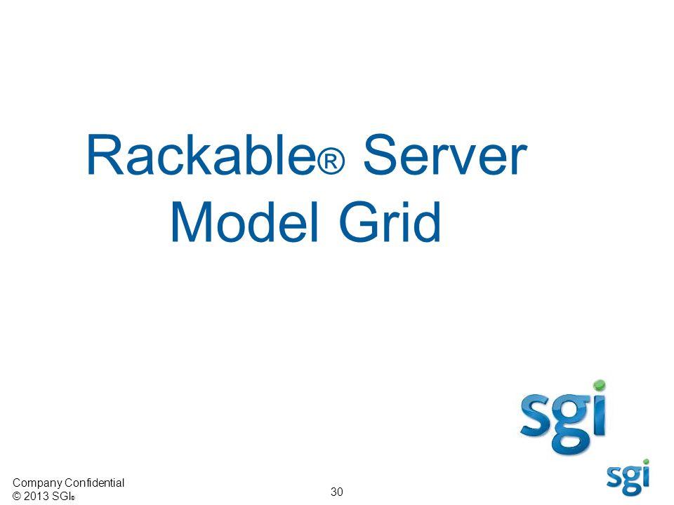 Rackable® Server Model Grid