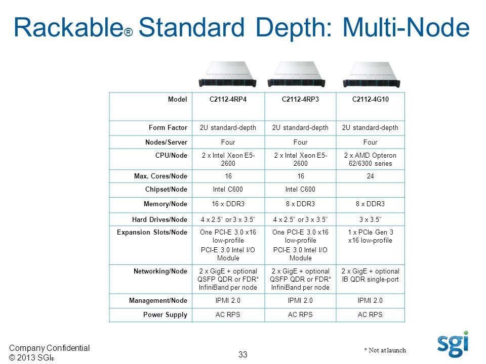 Rackable® Standard Depth: Multi-Node