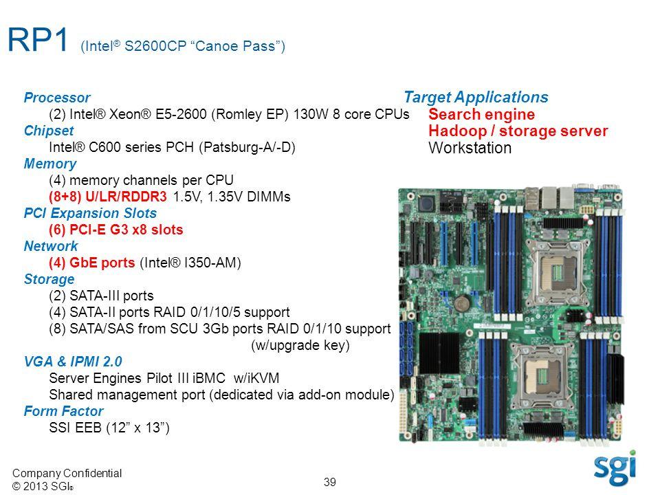 RP1 (Intel® S2600CP Canoe Pass )
