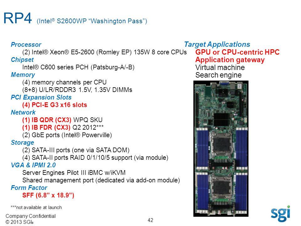 RP4 (Intel® S2600WP Washington Pass )