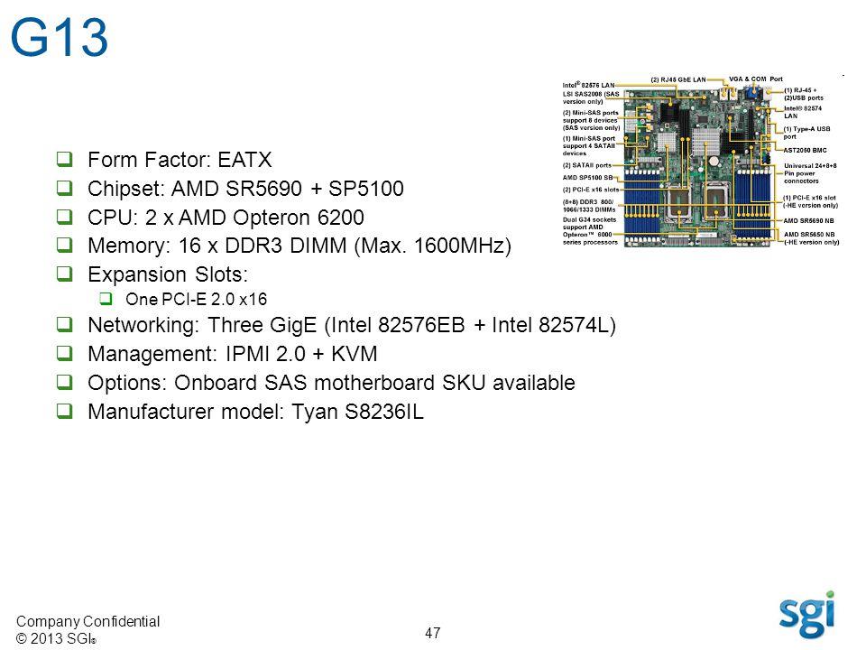 G13 Form Factor: EATX Chipset: AMD SR5690 + SP5100
