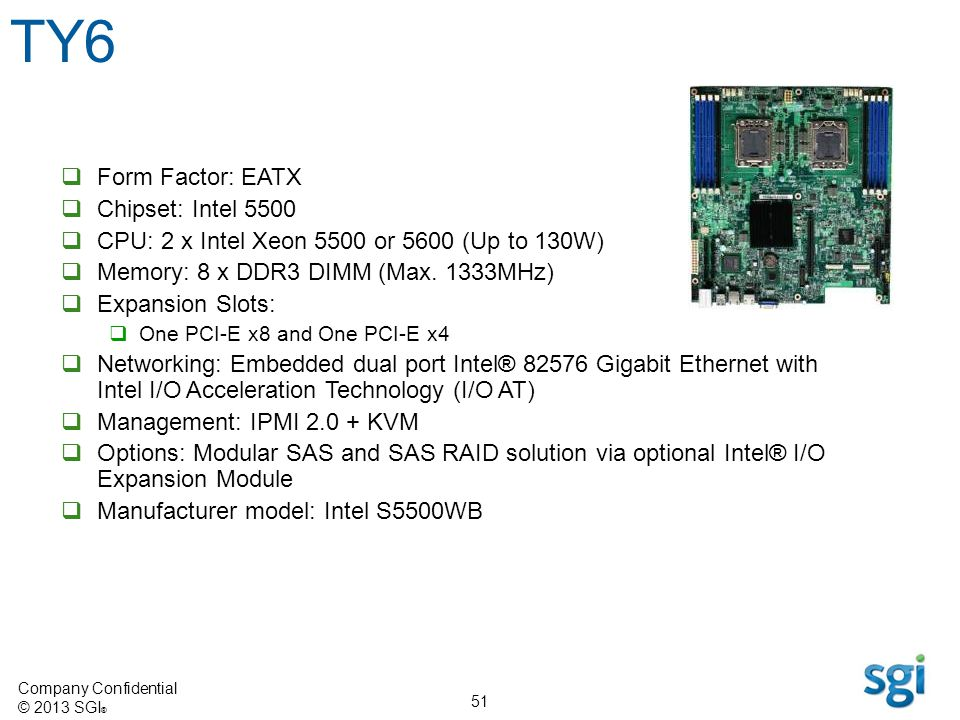 TY6 Form Factor: EATX Chipset: Intel 5500