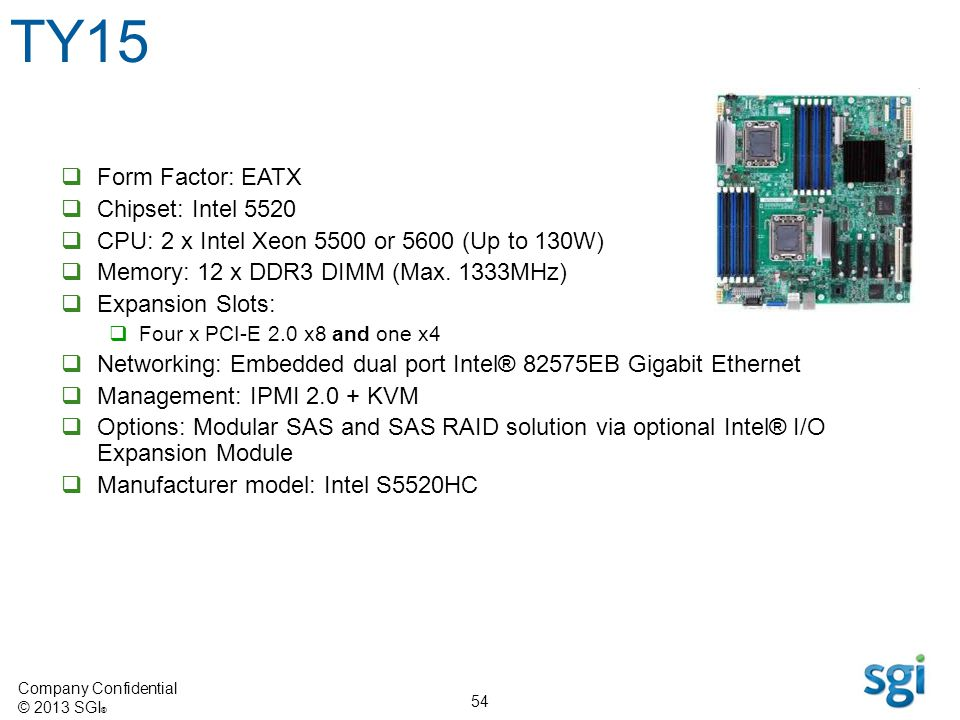 TY15 Form Factor: EATX Chipset: Intel 5520