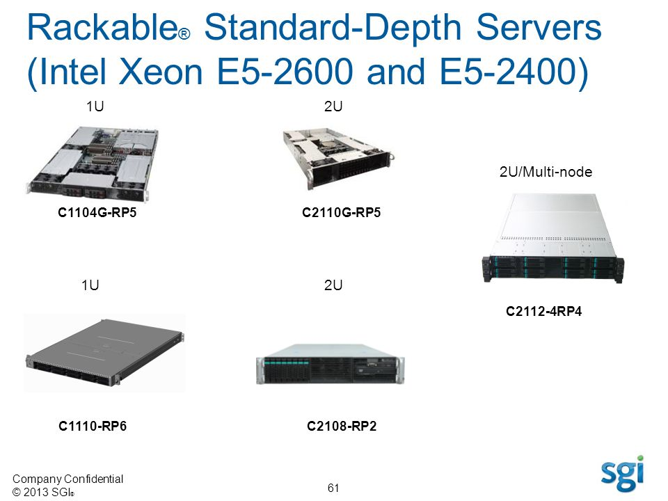 Rackable® Standard-Depth Servers (Intel Xeon E5-2600 and E5-2400)