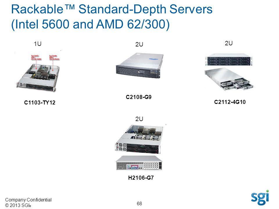 Rackable™ Standard-Depth Servers (Intel 5600 and AMD 62/300)