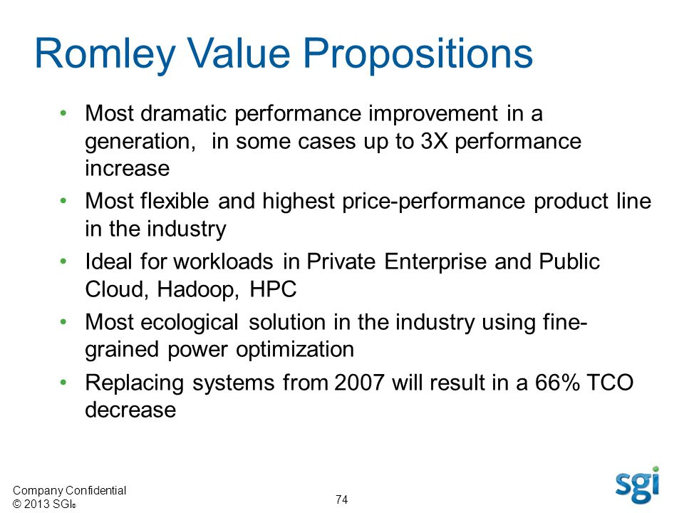 Romley Value Propositions