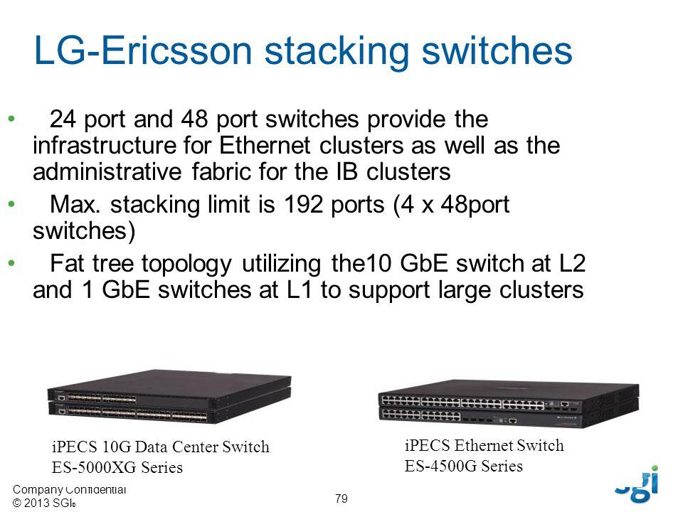 LG-Ericsson stacking switches