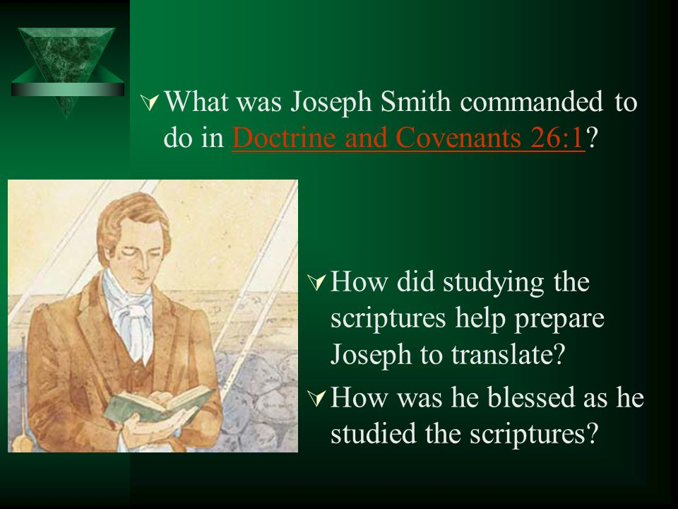 What was Joseph Smith commanded to do in Doctrine and Covenants 26:1