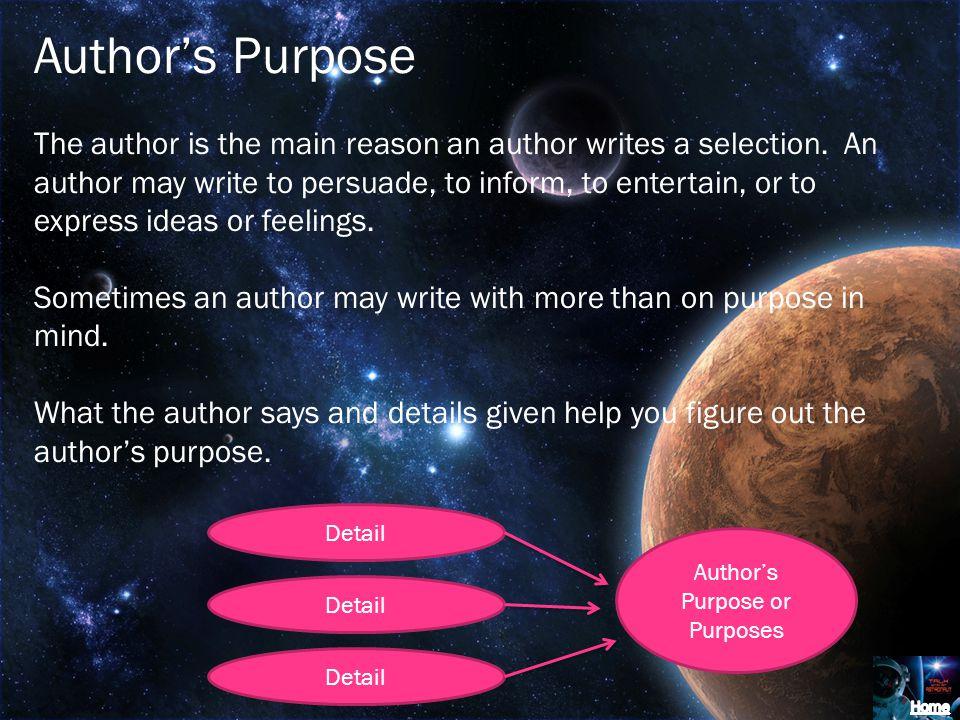 Author's Purpose or Purposes