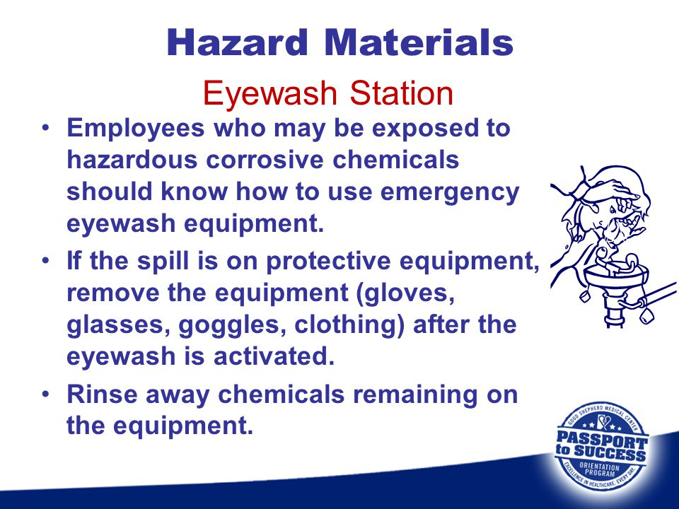 Hazard Materials Eyewash Station